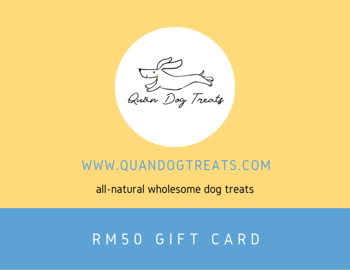 RM50 gift card quan dog treats