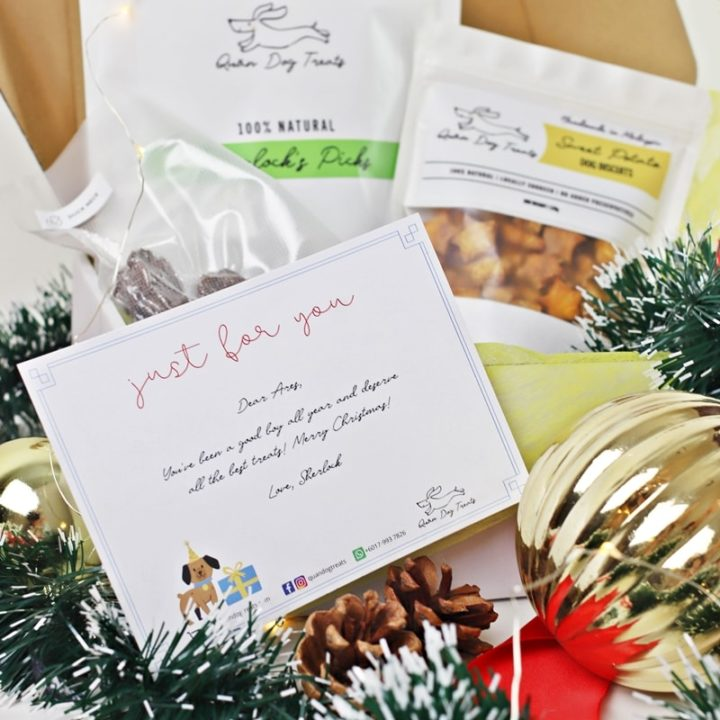 quan dog treats gift message