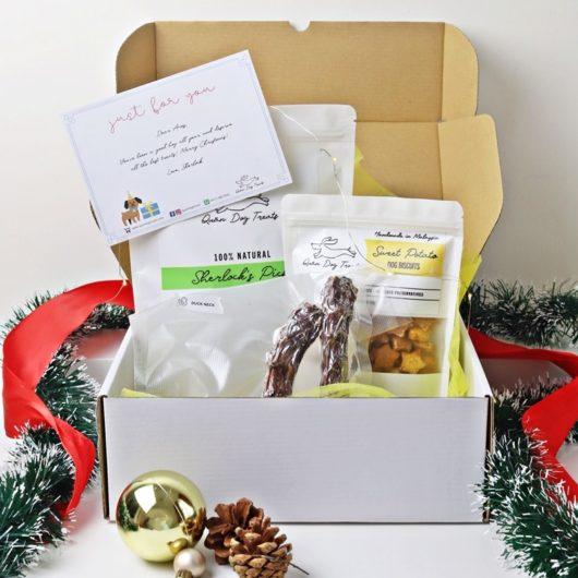 quan dog treats festive gift box