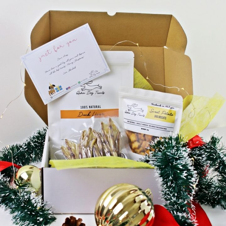 quan dog treats festive gift box