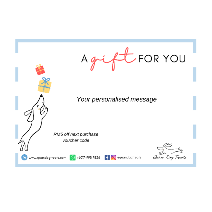 personalised gift card with voucher