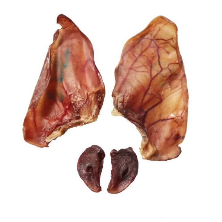 dehydrated pig ears and snout for dogs
